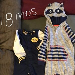 Other - Two 18 Month Baby Boy One Piece Outfits.